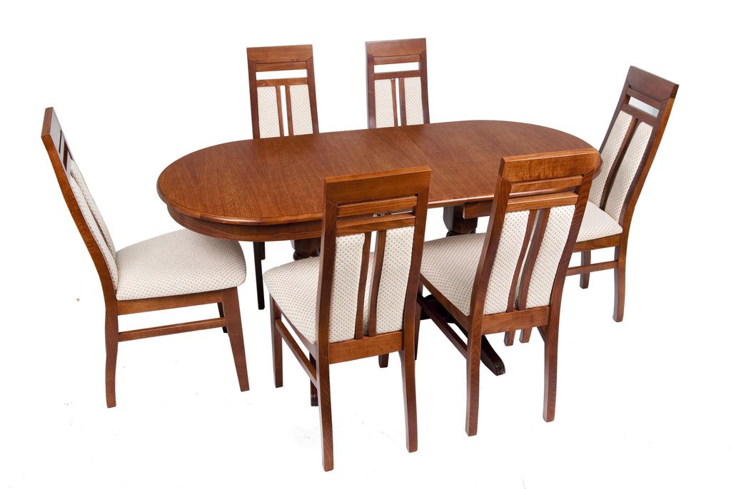 Étkező garnitúra + Étkezőasztal + Szék + Szövetválaszték + Tálaló ...